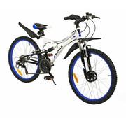 2Cycle Kinderfiets 18-Speed 24 inch Viper Wit-blauw MTB