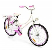 2Cycle Kinderfiets 24 inch Oma Roze-wit Vlinder