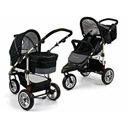Bransson Combi-Kinderwagen 2 in 1 Basic Zwart