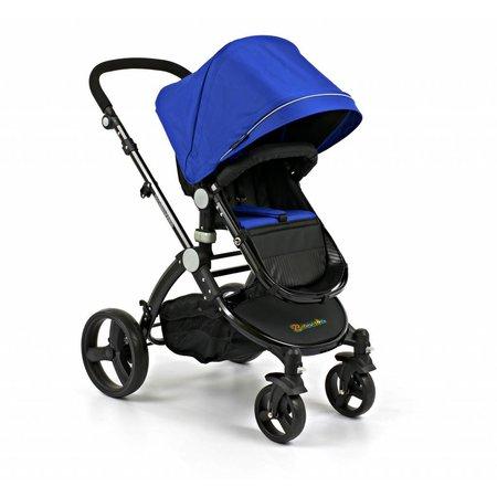 Branssøn Kinderwagen Blauw met Zwart frame (5093)