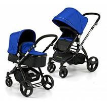 Kinderwagen Blauw met Zwart frame