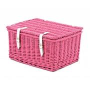 2Cycle Fietsmand roze met deksel groot