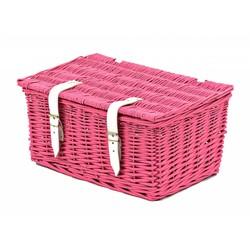 2Cycle Fietsmand roze met deksel klein