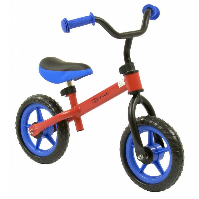2Cycle Loopfiets blauw-rood (1307)