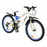 2Cycle Kinderfiets 18-Speed 24 inch Tomahawk Wit-blauw MTB