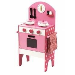 P&M Houten Kinderkeuken Love Wit-Roze