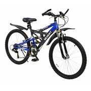 2Cycle Kinderfiets 24 inch Desert 18-Speed Blauw-zwart MTB