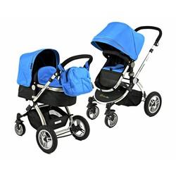 Bransson Kinderwagen Blauw met Luchtbanden