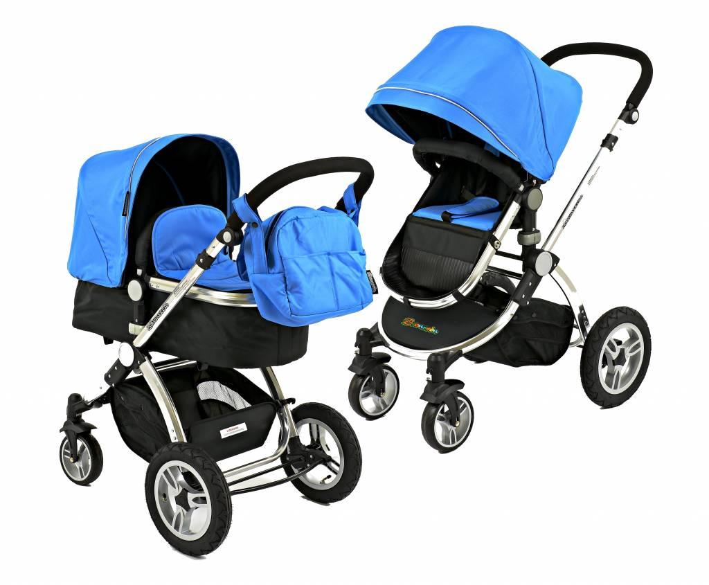 Goedkope luxe blauwe Bransson kinderwagen met luchtbanden online ...