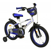 2Cycle Kinderfiets 16 inch City Wit-blauw