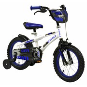 2Cycle Kinderfiets 14 inch City Wit-blauw