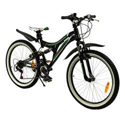 2Cycle Kinderfiets MTB 24 inch Cobra 18-Speed Groen-zwart