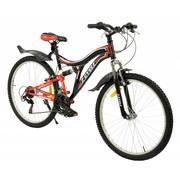 2Cycle MTB 26 inch Shimano 18-Speed Rood-zwart