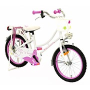 2Cycle Kinderfiets 18 inch Oma Vlinder Wit-roze