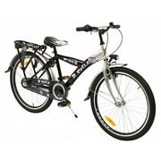 2Cycle Kinderfiets 24 inch Nitro 3-Speed Zwart