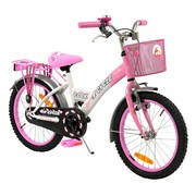 2Cycle Kinderfiets 18 inch Cool wit-roze