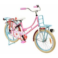 2Cycle Kinderfiets 20 inch Transportfiets Flower
