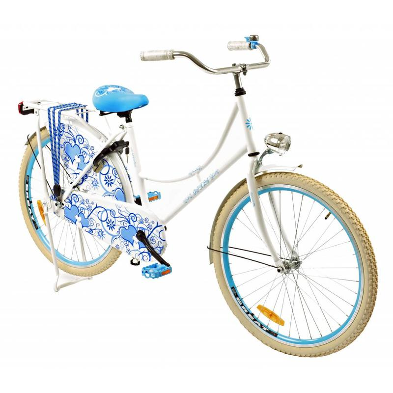 2Cycle Omafiets 26 inch Blauw-wit (2668)