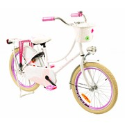 2Cycle Kinderfiets 20 inch Oma Vlinder Wit-roze