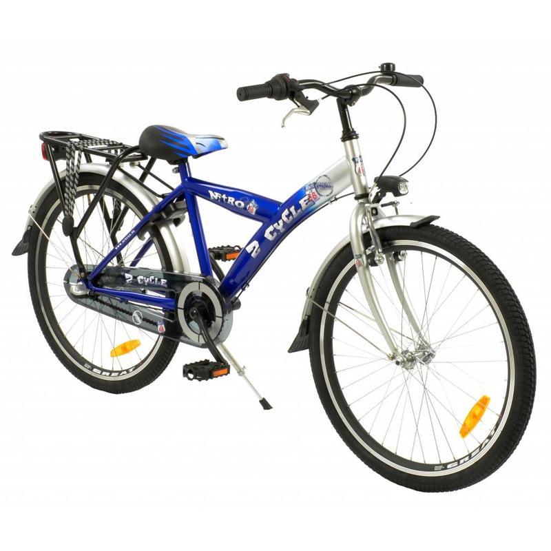 2Cycle Jongensfiets 24 inch Nitro 3-Speed Blauw (2401)