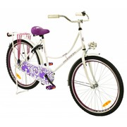 2Cycle Kinderfiets 26 inch Oma Paars-wit