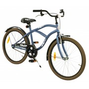 2Cycle Kinderfiets 24 inch Cruiser mat blauw
