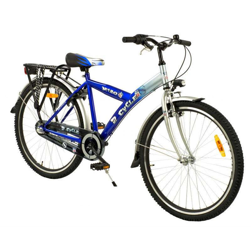 2Cycle Jongensfiets 26 inch Nitro 3-Speed Blauw (2601)