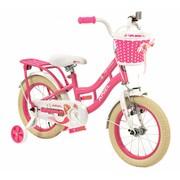 2Cycle Kinderfiets 14 inch Zeemeermin Wit-roze