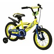 2Cycle Kinderfiets 14 inch BMX blauw-geel