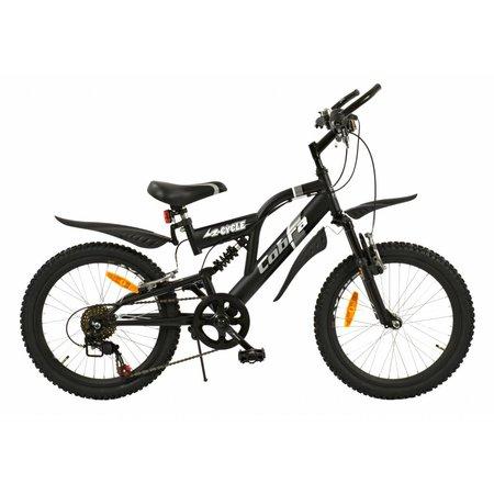 2Cycle Mountainbike 20 inch Cobra 6-speed Mat-Zwart (2014)