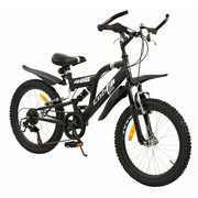 2Cycle Kinderfiets 20 inch Cobra 6-speed MTB Mat-Zwart