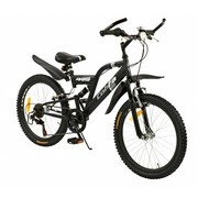 2Cycle Kinderfiets 22 inch Cobra MTB 6-speed Mat-Zwart