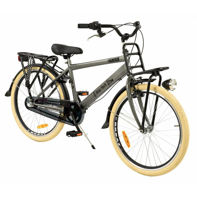 2Cycle Transportfiets 24 inch New-York 3-Speed Grijs (2439)