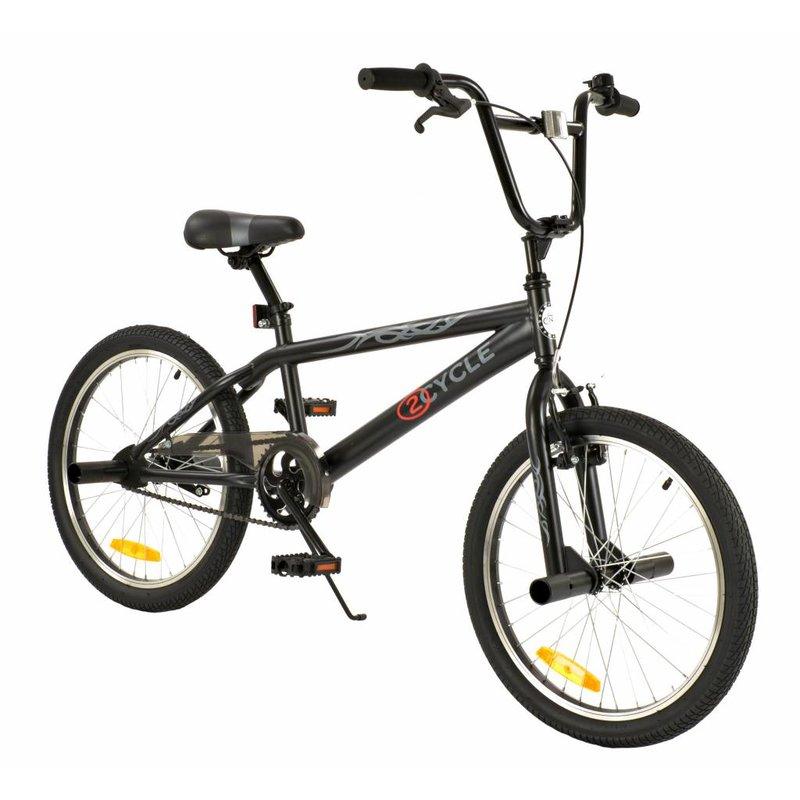 2Cycle Jongensfiets BMX zwart (2044)