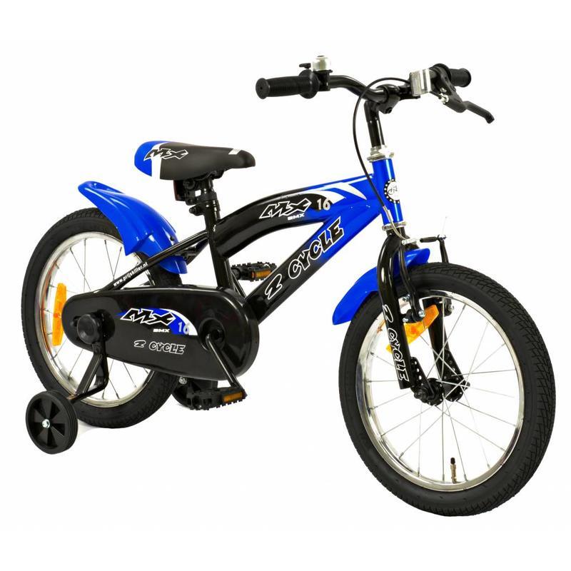 2Cycle Jongensfiets 16 inch MX Blauw (1610)
