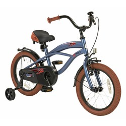 2Cycle Kinderfiets 16 inch Cruiser Mat-Blauw