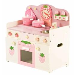 P&M Houten Speelkeuken wit-roze
