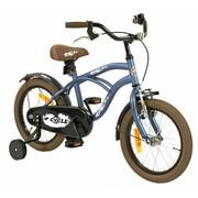 2Cycle Kinderfiets 16 inch Cruiser Mat-Blauw