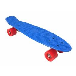 2Cycle Skateboard Blauw-Rood 22.5 inch