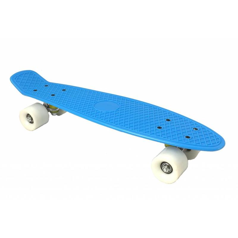 2Cycle Skateboard Blauw-Wit 22.5 inch (3101)