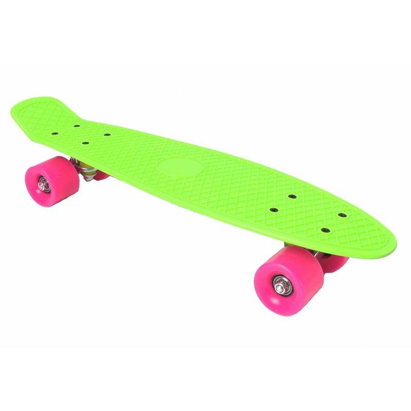 2Cycle Skateboard Groen-Roze 22.5 inch (3100)
