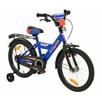 Kinderfiets 18 inch Blauw-Rood