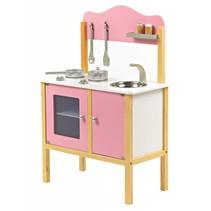 Houten Kinderkeuken Basic Roze