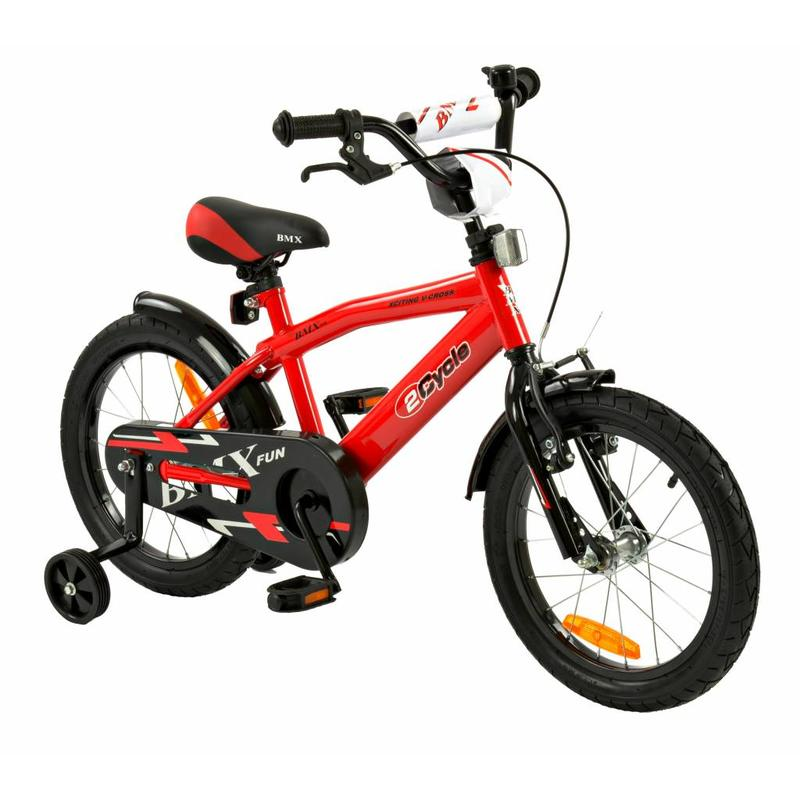 2Cycle Jongensfiets 16 inch BMX Rood (1697)