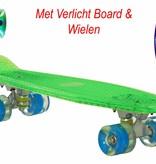 2Cycle Skateboard Groen met LED Board en LED wielen (3114)