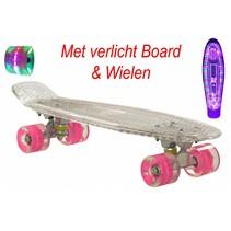 Skateboard Transparant met LED Board en LED Wielen