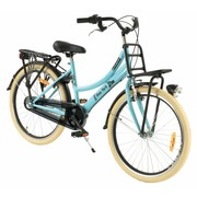 2Cycle Transportfiets 24 inch New-York blue met voordrager 3-Speed