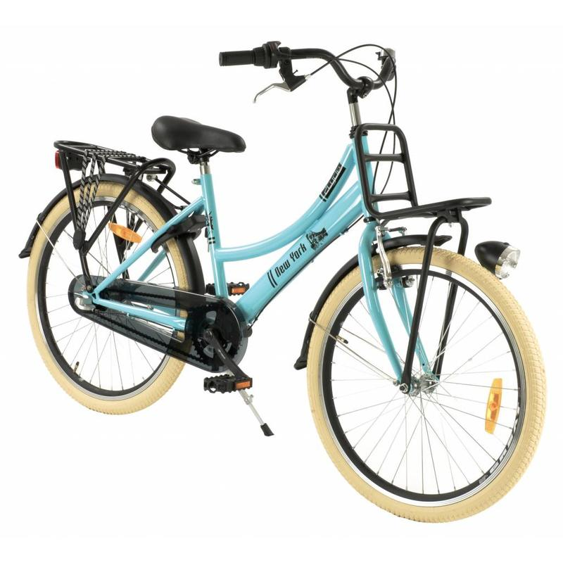 2Cycle Transportfiets 24 inch New-York Blue met voordrager 3-Speed (2473)