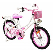 2Cycle Kinderfiets 18 inch Oma wit-roze