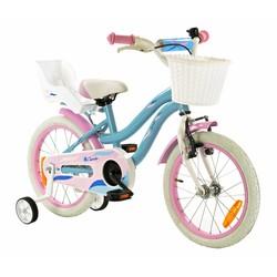 2Cycle Kinderfiets 16 inch Blauw-Roze met Poppenzitje